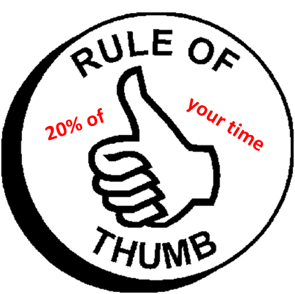 For rule of thumb