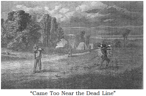 Civil War drawing of the Dead Line