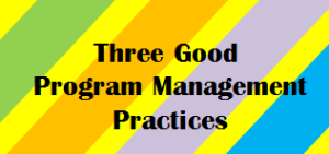 three good program management practices of launching strategic initiatives